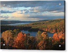Quabbin Reservoir Autumn Acrylic Print by John Burk