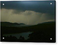 Quabbin Thunderstorm Acrylic Print by John Burk
