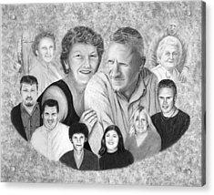 Quade Family Portrait  Acrylic Print by Peter Piatt