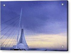 Quadracci Pavilion Sunrise Acrylic Print by Scott Norris