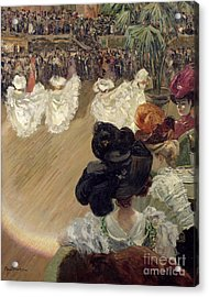 Quadrille At The Bal Tabarin Acrylic Print by Abel-Truchet