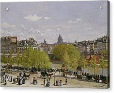 Quai Du Louvre In Paris Acrylic Print by Claude Monet