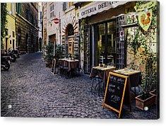 Quaint Cobblestones Streets In Rome, Italy Acrylic Print