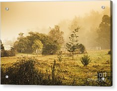 Quaint Countryside Scene Of Glen Huon Acrylic Print by Jorgo Photography - Wall Art Gallery