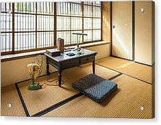 Acrylic Print featuring the photograph Quaint Tatami Office by Geoffrey Lewis