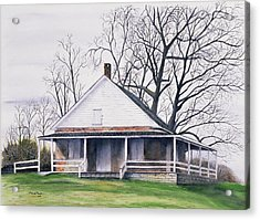 Quaker Meeting House Acrylic Print by Tom Dorsz