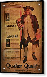Quaker Quality Acrylic Print by Bill Cannon