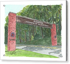 Acrylic Print featuring the painting Quantico Welcome by Betsy Hackett