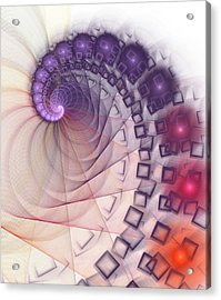 Acrylic Print featuring the digital art Quantum Gravity by Anastasiya Malakhova