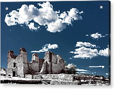 Quarai New Mexico - Infrared False Color Acrylic Print