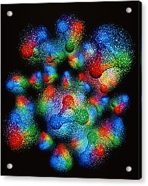 Quark Structure Of Silicon Atom Nucleus Acrylic Print by Arscimed