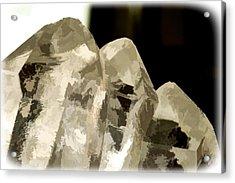 Quartz Crystal Cluster Acrylic Print