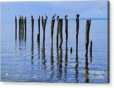 Acrylic Print featuring the photograph Quay Rest by Stephen Mitchell