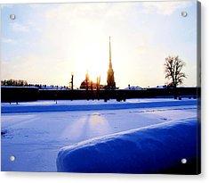Acrylic Print featuring the digital art Quay  by Yury Bashkin
