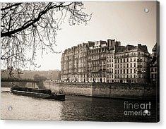 Quays Of The Seine And Ile Saint-louis. Paris. France. Europe. Acrylic Print by Bernard Jaubert