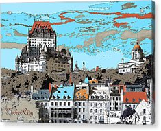 Quebec City Canada Poster Acrylic Print