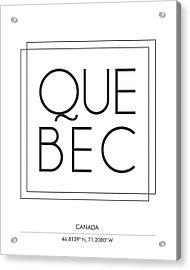 Quebec City Print With Coordinates Acrylic Print