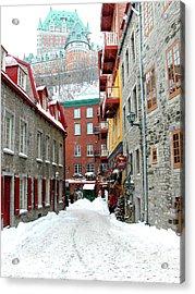 Quebec City Winter Acrylic Print by Thomas R Fletcher