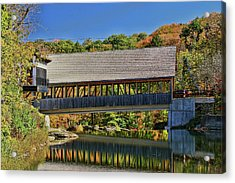 Quechee Covered Bridge # 2 Acrylic Print by Allen Beatty