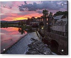 Quechee Vermont Sunset Acrylic Print