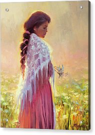 Queen Anne's Lace Acrylic Print by Steve Henderson