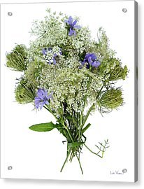 Queen Anne's Lace With Purple Flowers Acrylic Print