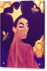 Queen Bee  Acrylic Print by Miriam Moran
