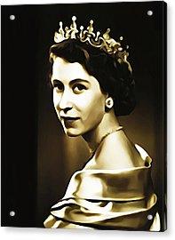 Queen Elizabeth II Acrylic Print by Bill Cannon