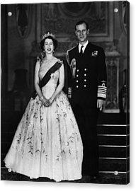Queen Elizabeth II, The Queen Acrylic Print by Everett