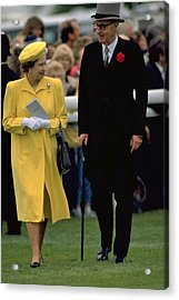 Queen Elizabeth Inspects The Horses Acrylic Print