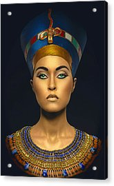 Queen Esther Acrylic Print by Karen Showell