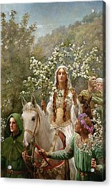 Queen Guinevere Acrylic Print by John Collier