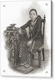 Queen Gusti  Gkr  Hemas, Consort Of Acrylic Print by Vintage Design Pics