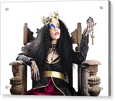 Queen Holding Christian Cross Acrylic Print by Jorgo Photography - Wall Art Gallery