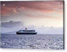 Queen Mary 2 Acrylic Print by Grant Glendinning
