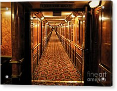 Acrylic Print featuring the photograph Queen Mary Hallway by Mariola Bitner