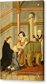 Queen Mary I Curing Subject With Royal Acrylic Print