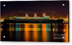 Acrylic Print featuring the photograph Queen Mary - Nightside by Jim Carrell