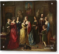 Queen Mary Of Scotland Meets Marie  Acrylic Print by MotionAge Designs