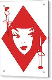Queen Of Diamonds  Acrylic Print by Seth Coleman