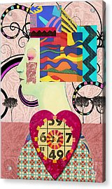 Queen Of Hearts Custom Order Acrylic Print