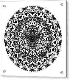 Queen Of Hearts King Of Diamonds Mandala Acrylic Print