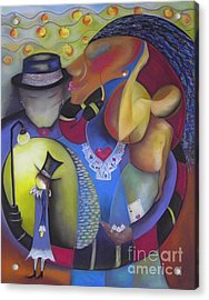 Queen Of Hearts Acrylic Print by Tracey Levine