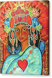 Queen Of Her Own Heart Acrylic Print by Shiloh Sophia McCloud