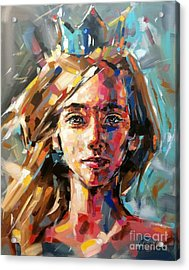 Queen Of Her World Acrylic Print by Christine Karron