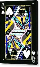Queen Of Spades - V2 Acrylic Print by Wingsdomain Art and Photography