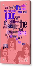 Queen. Play The Game. Can You Recognize The Song? Can You Recognize The Band? Game For Fans Acrylic Print by Pablo Franchi