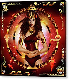 Royalty Queen No. 14 Acrylic Print by Kenal Louis