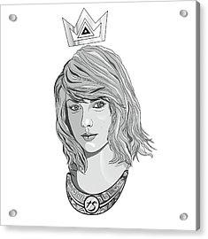 Queen Taylor Swift In Grey Acrylic Print by Kenal Louis