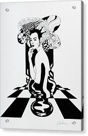 Queen Acrylic Print by Yelena Tylkina